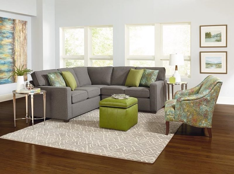 How to add a pop of color to your living room, living room with green accents